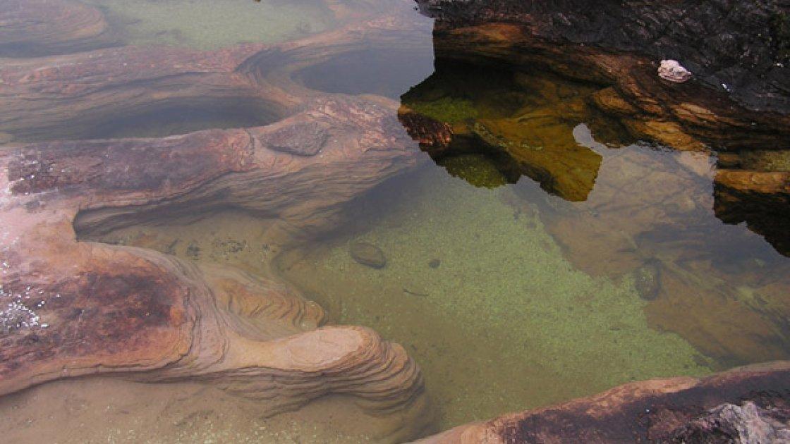 Гора Рорайма в Венесуэле - вода и озера