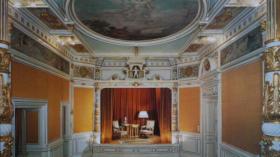 Замок Пелеш в Румынии - кинотеатр