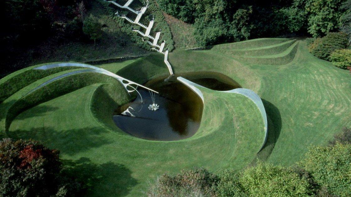 Сад космических размышлений - лестница сверху