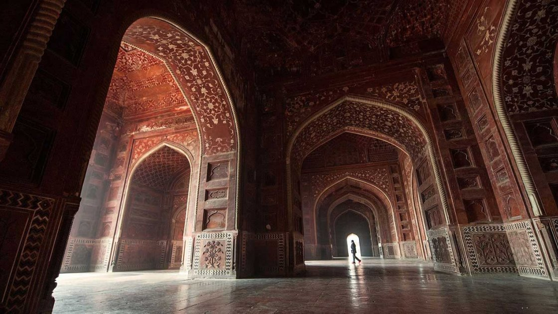 Тадж-Махал в Индии - внутри
