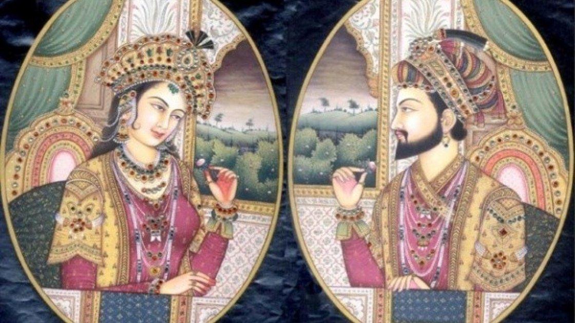 Тадж-Махал в Индии - супруги