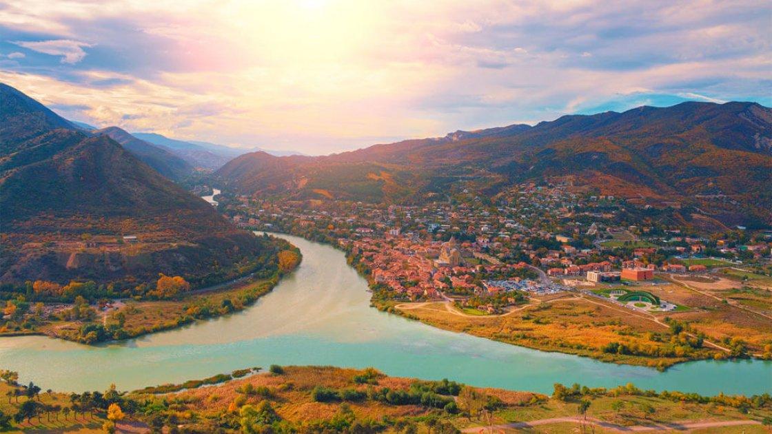 Мцхета - слияние двух рек