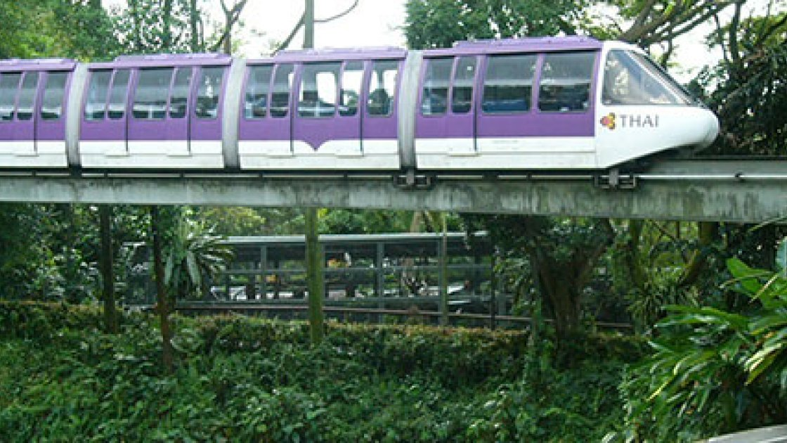 Сингапурский зоопарк  - трамвайчик