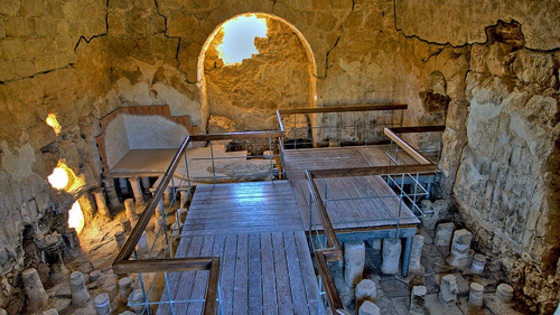 Крепость Масада в Израиле - внутри