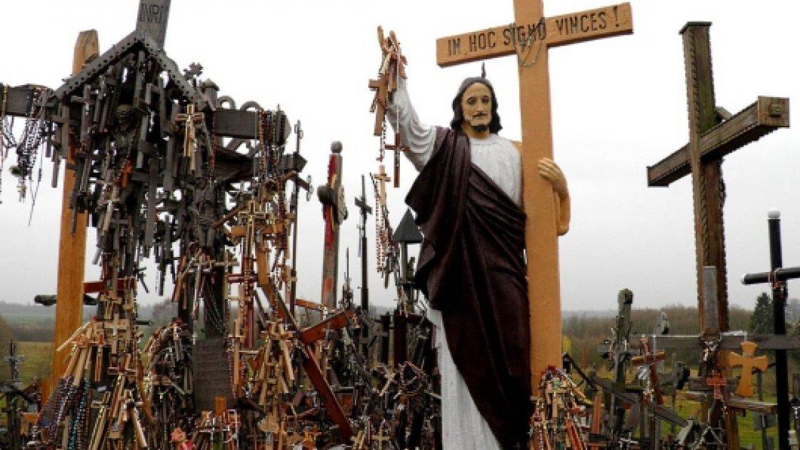 Крестовая гора в Литве - Христос