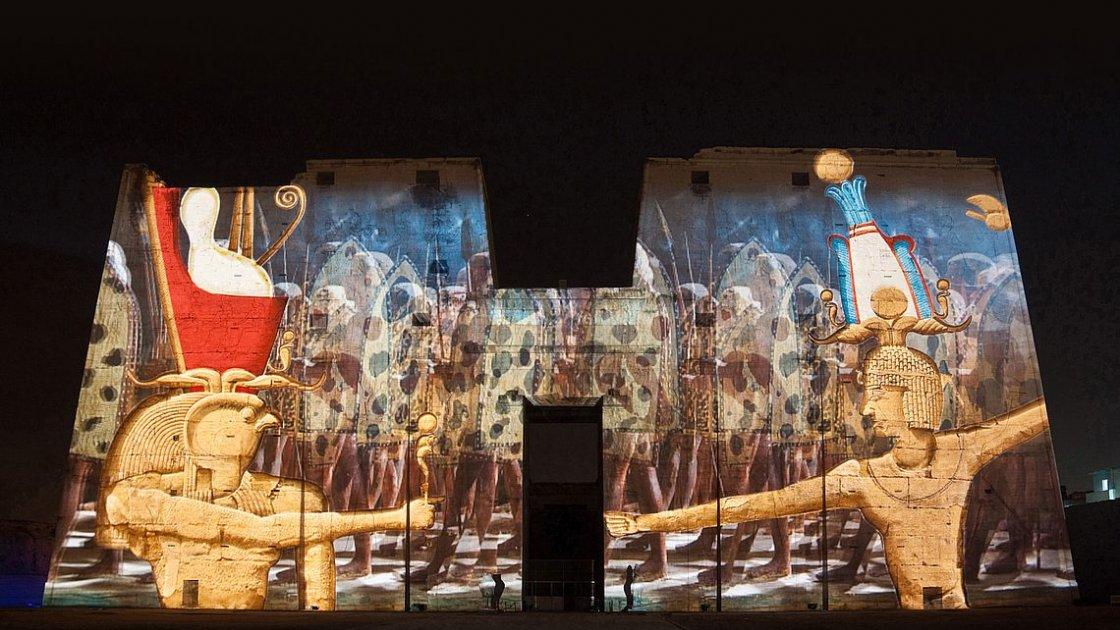 Карнакский храм в Египте - световое шоу