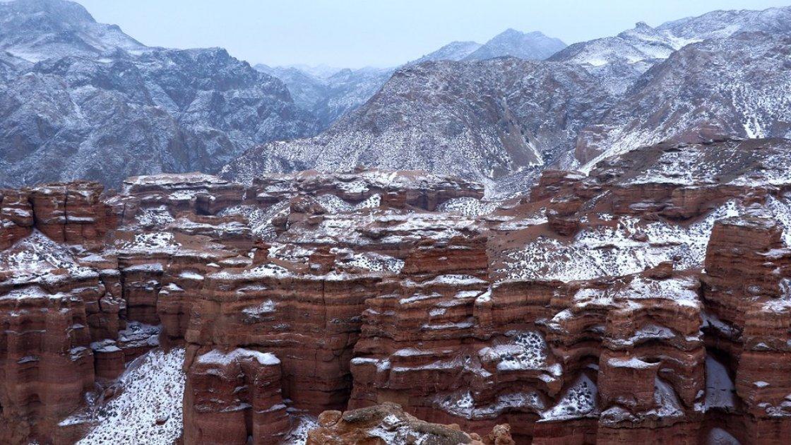 Чарынский каньон в Казахстане – зимой