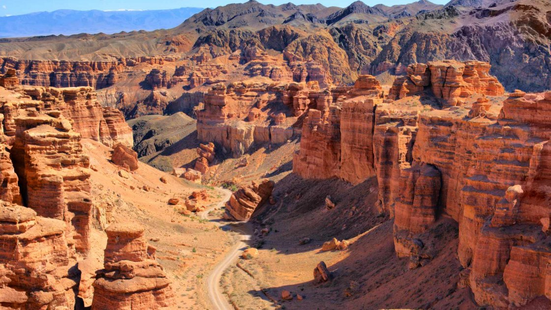 Чарынский каньон в Казахстане – вид