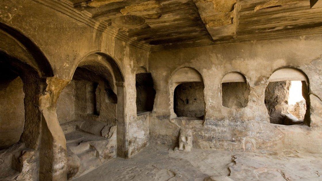 Пещерный город Уплисцихе в Грузии - зал Тамары