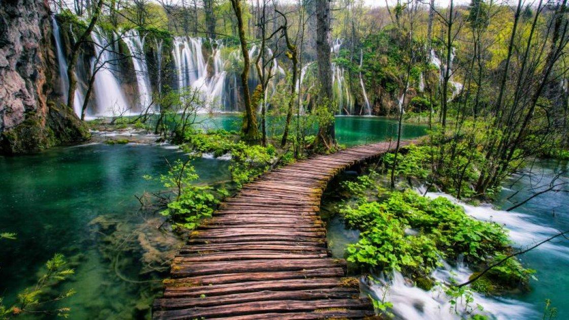 Плитвицкие озера в Хорватии-дорожки