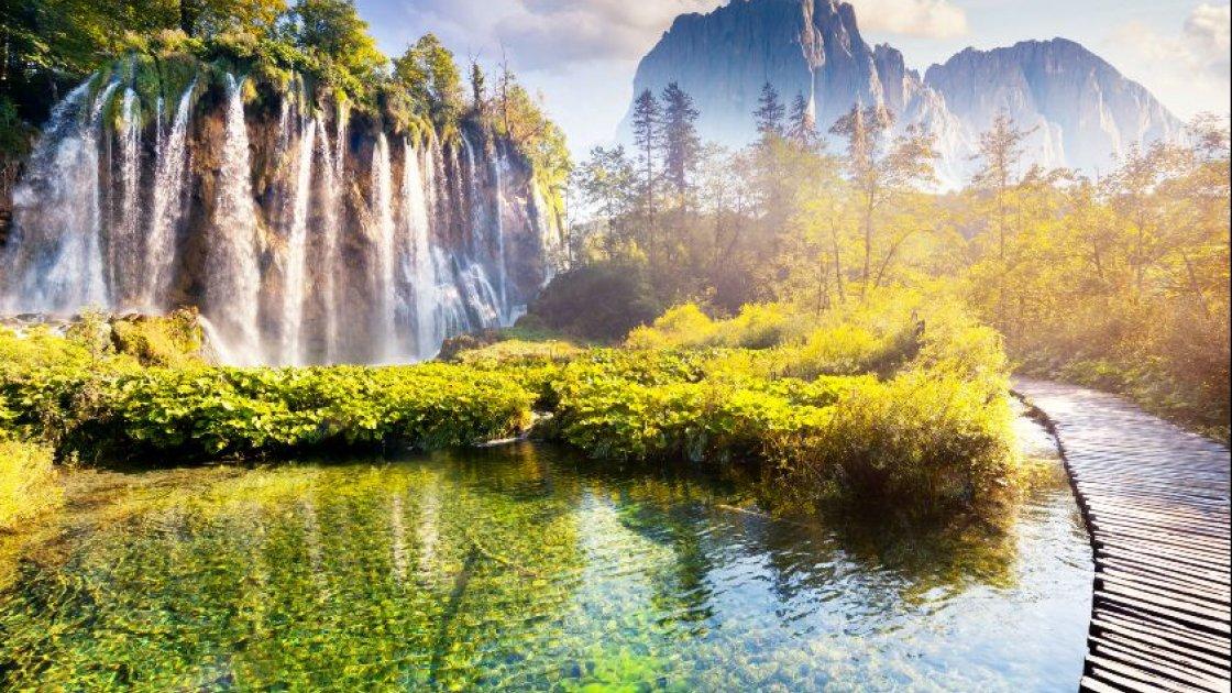 Плитвицкие озера в Хорватии-водопады