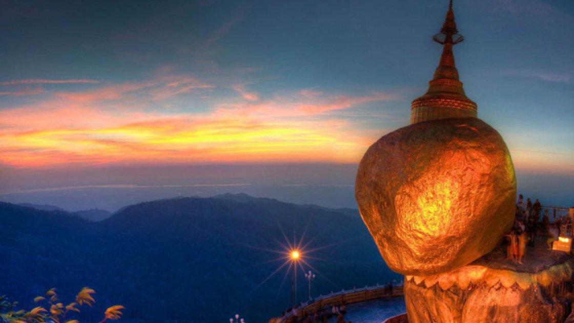 Золотой камень Будды в Мьянме 2