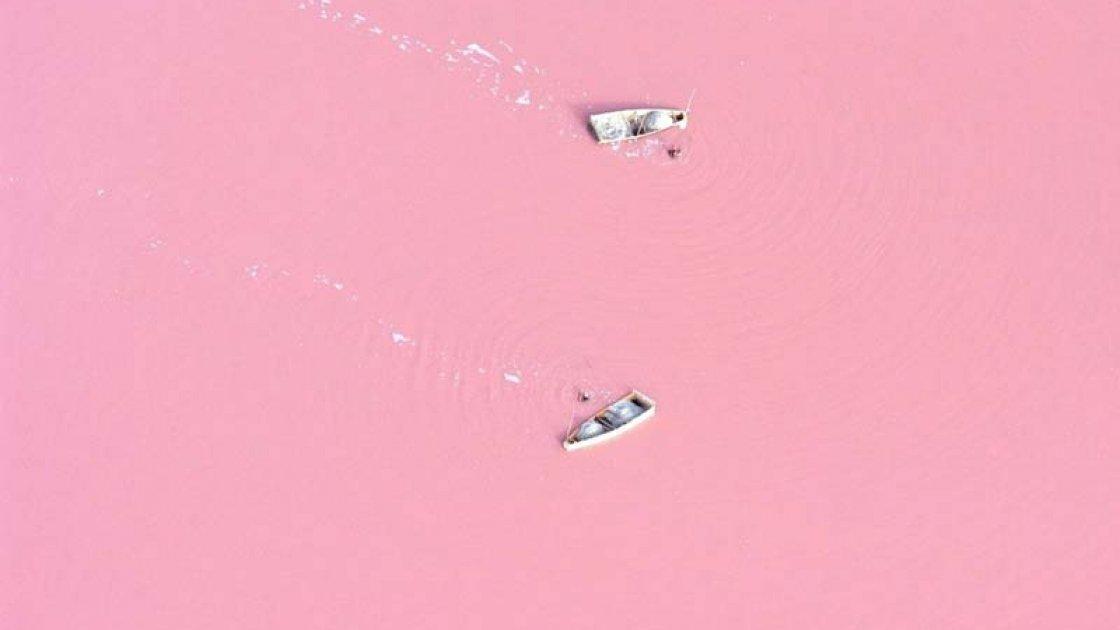 Розовое озеро Хиллер в Австралии4