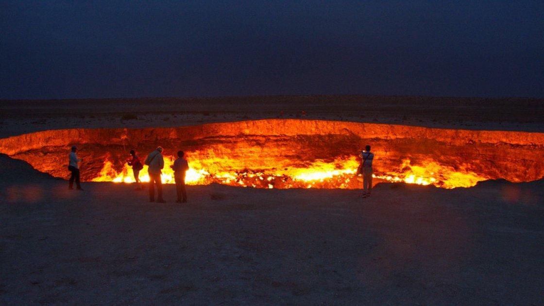 Газовый кратер Дарваза 2