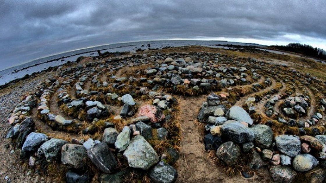 каменные лабиринты на Соловках3