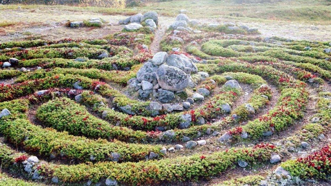 каменные лабиринты на Соловках1