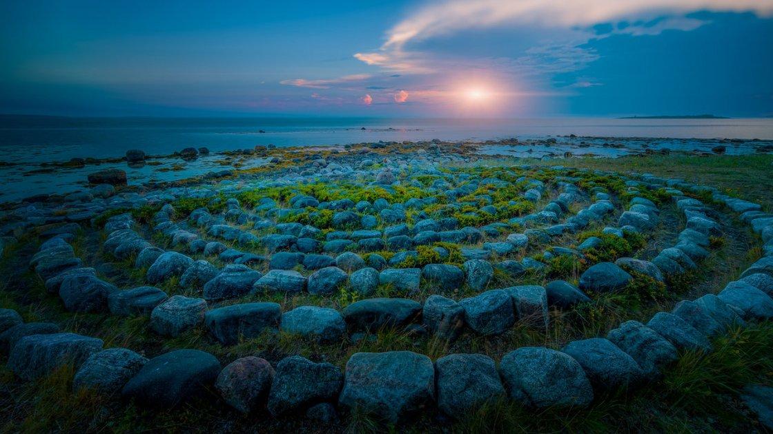 каменные лабиринты на Соловках5