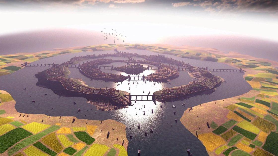 Реконструкция города Атлантида по описанию Платона