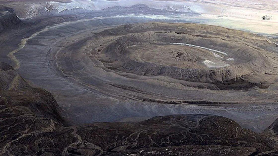 Вид на Око Сахары с высоты