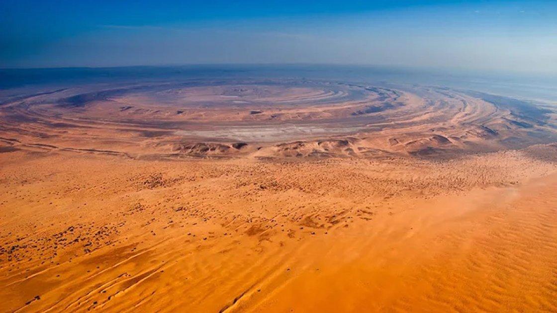 Вид на структуры Ришат с высоты птичьего полёта
