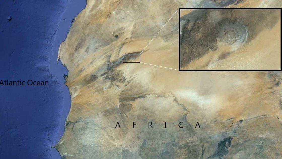 Где находится Око Сахары