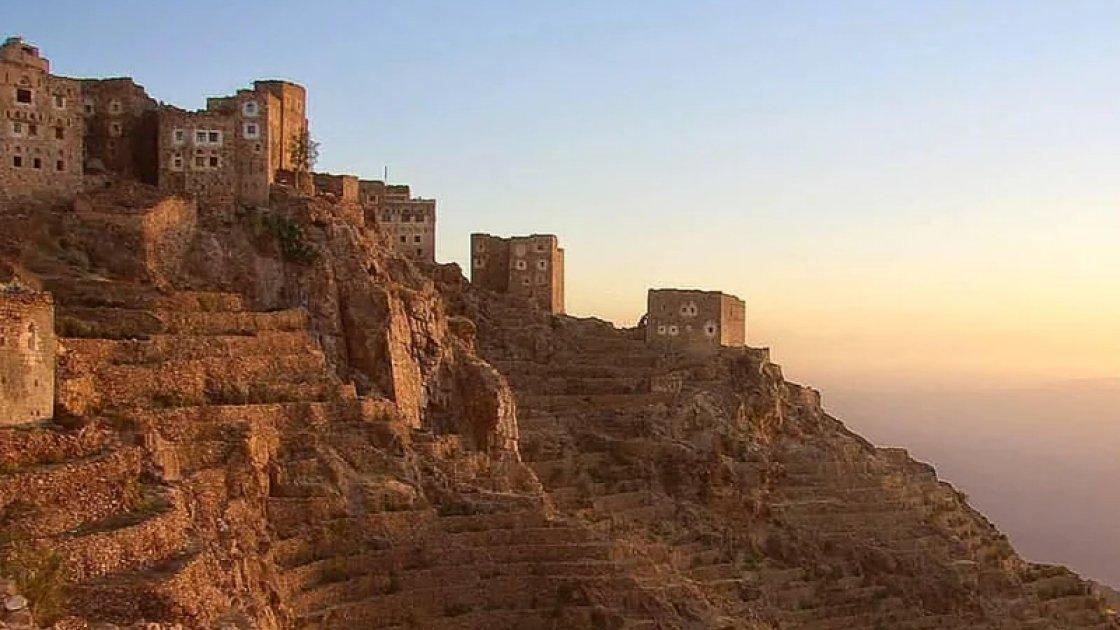 Деревня Шехара в Йемене