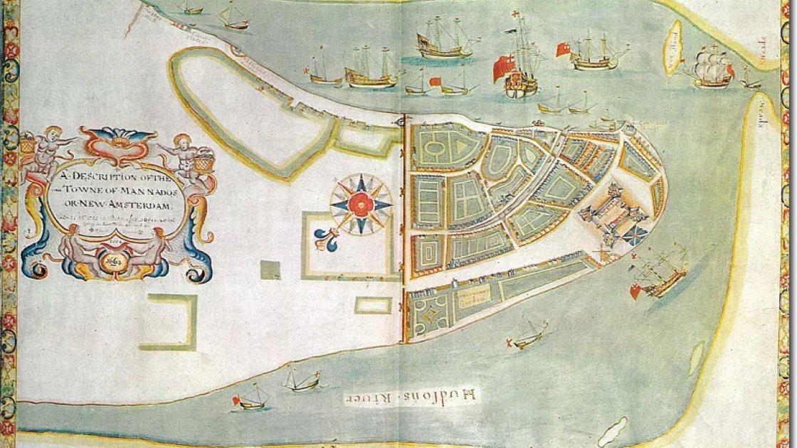 Карта Нового Амстердама