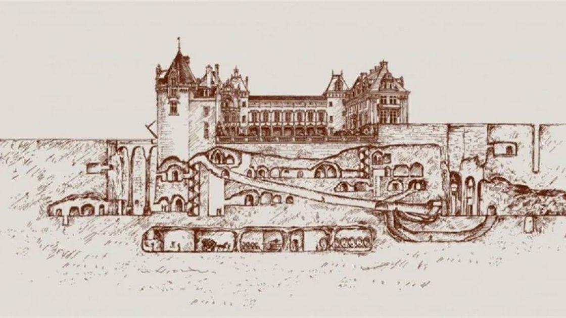 Замок Брезе и его катакомбы