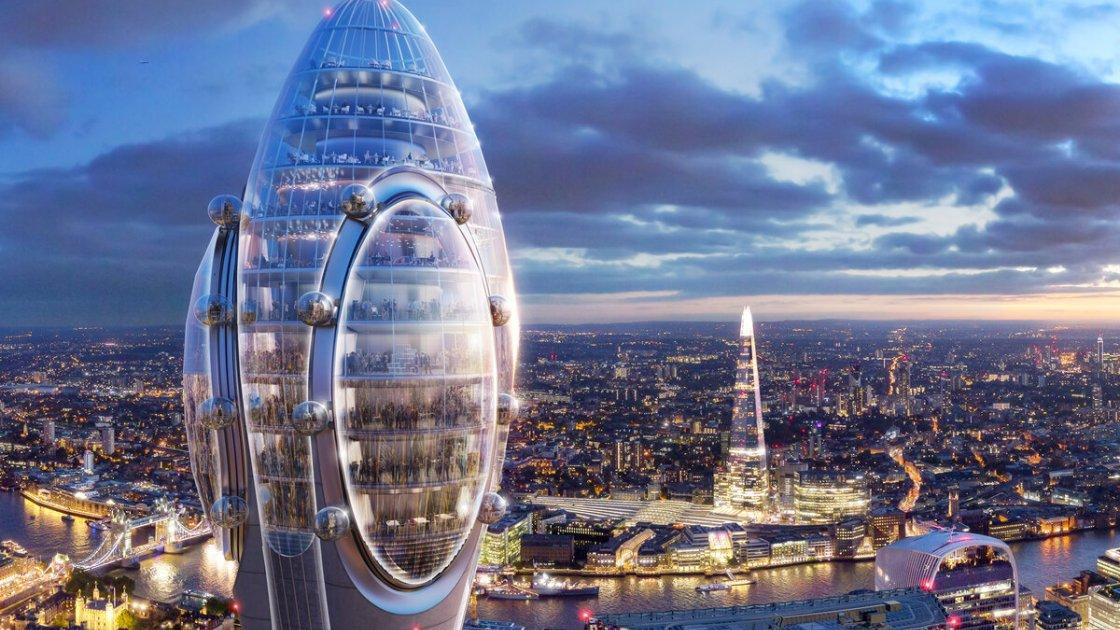 """""""Бутон"""" будущего """"Тюльпана"""" и вид на Лондон"""