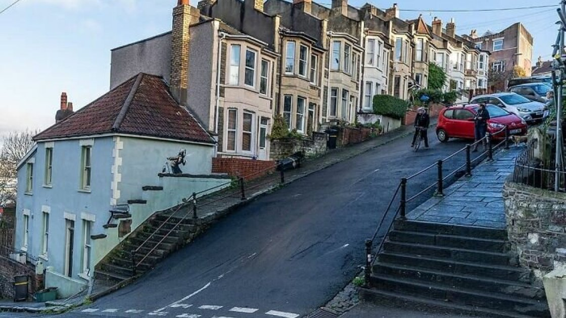 Вейл-стрит в Бристоле - самая крутая улица Великобритании