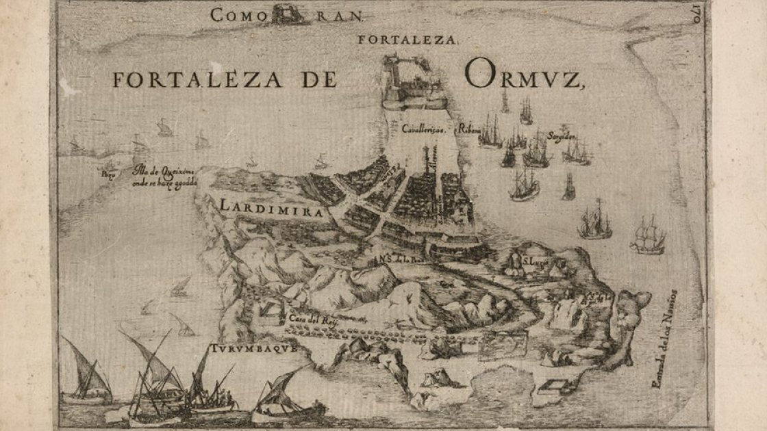 Fortaleza de Ormuz, португальская карта с крепостью Ормуз