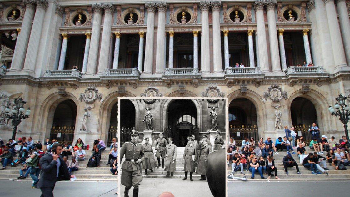 Адольф Гитлер на Place de l'Opera в Париже