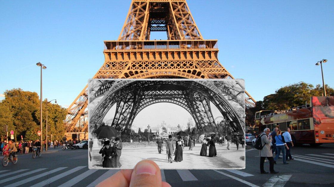 Куда ж без Эйфелевой башни - 1890 год