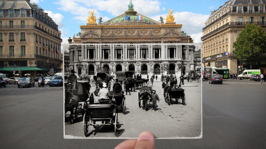 Place de l'Opera в Париже - до строительства станции метро