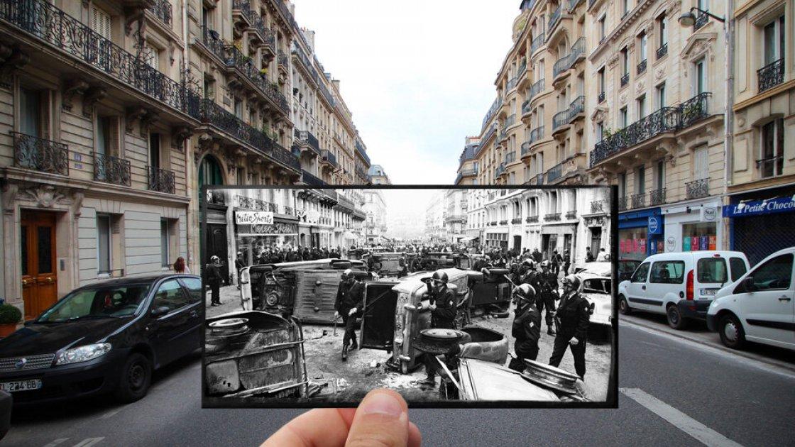 Баррикады в Париже, май 1968 года
