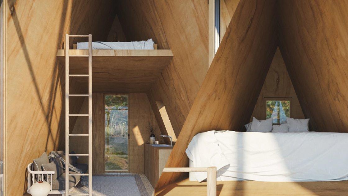 Спальное место на втором этаже Den Cabin Kit