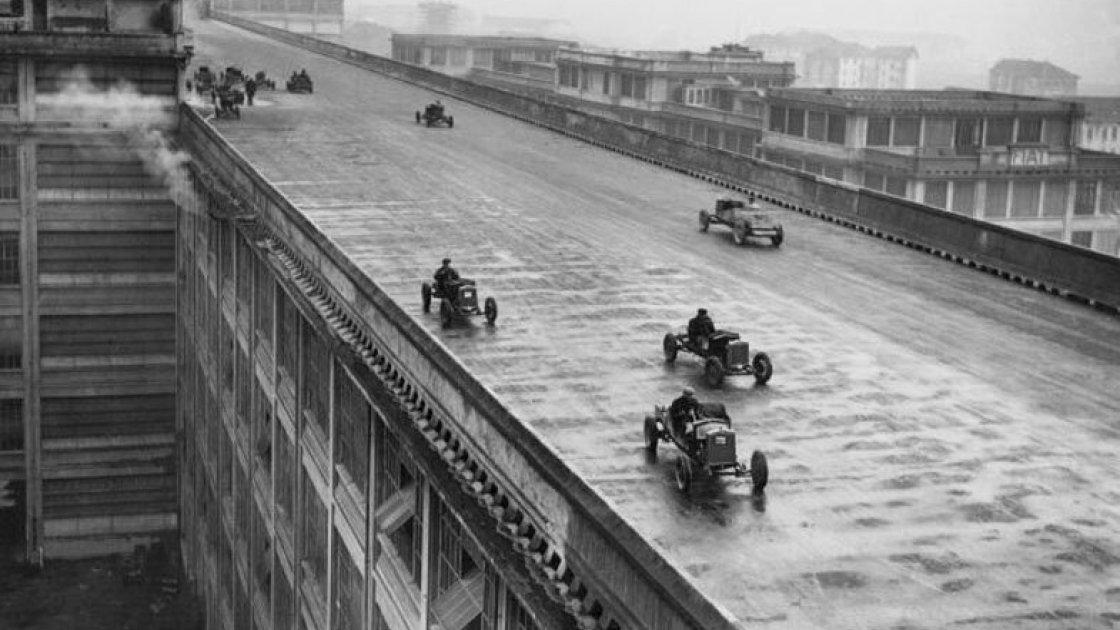 Гонки на крыше завода Fiat Lingotto