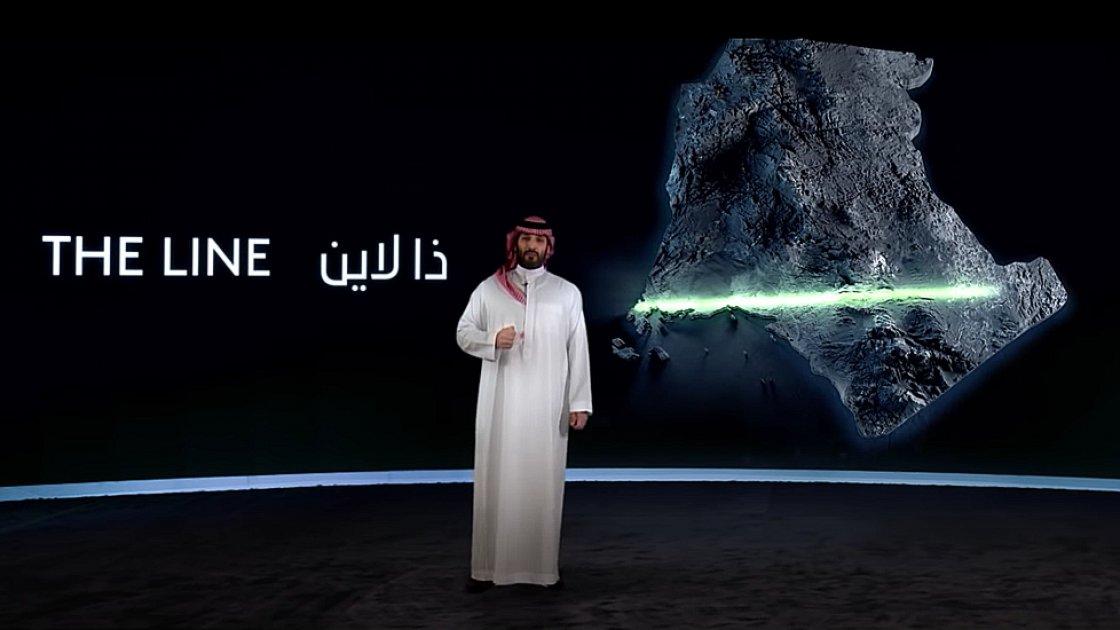 Мохаммед бин Салман презентует проект нового города The Line