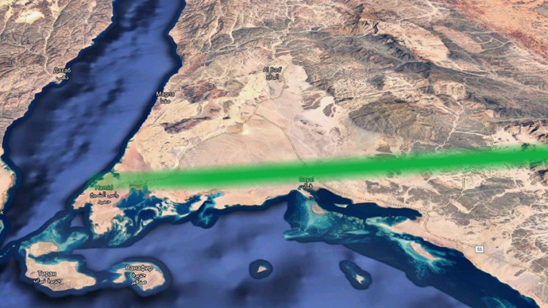 """Вот такая """"зелёная лини"""" появится на карте Саудовской Аравии"""