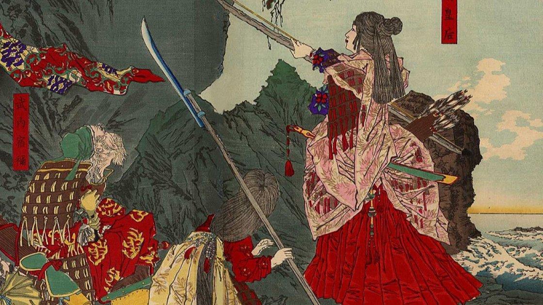 Императрице Дзингу завоёвывает Корею