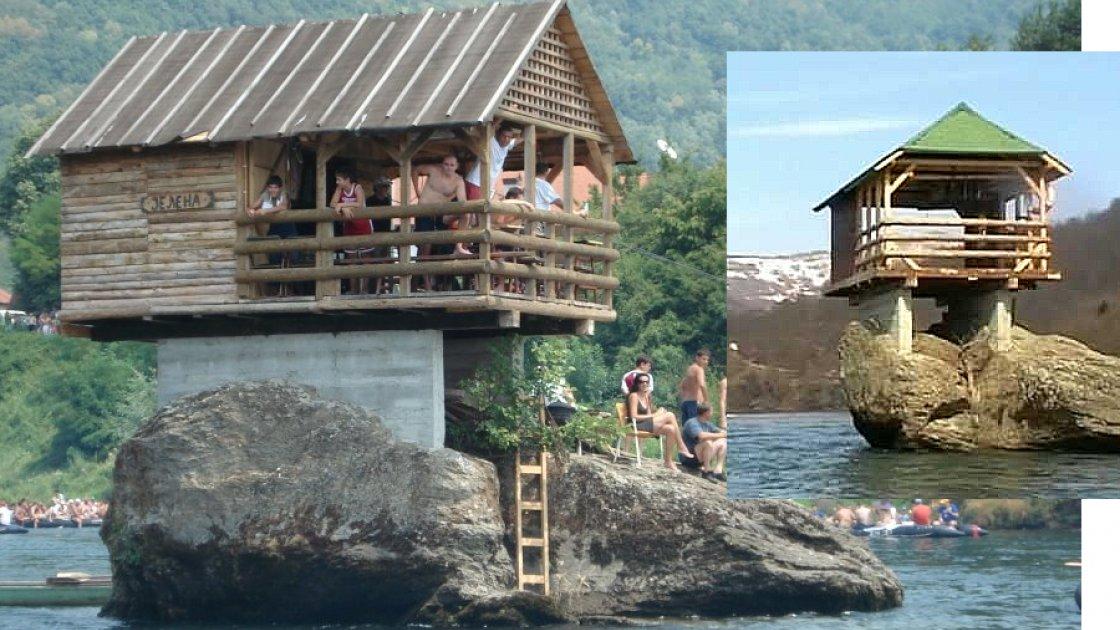 На этих фото видны бетонные балки и - обратите внимание - сами дома тоже разные