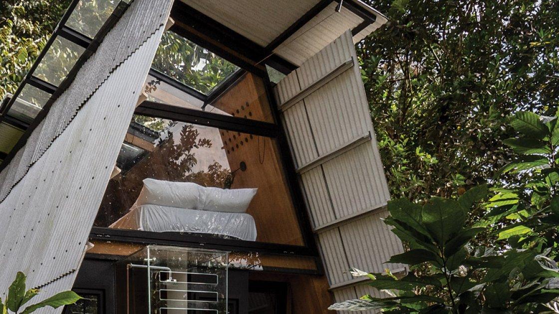 Дом Huaira в Эквадоре - вид на спальню