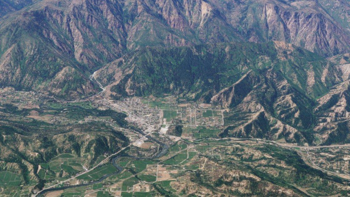 Ливенворт на Google Maps, вид сверху